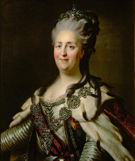 1780年的葉卡捷琳娜二世,J.B.蘭皮(Johann Baptist von Lampi the Elder)所繪,現藏藝術史博物館。(Atomojvi/Wikimedia commons)