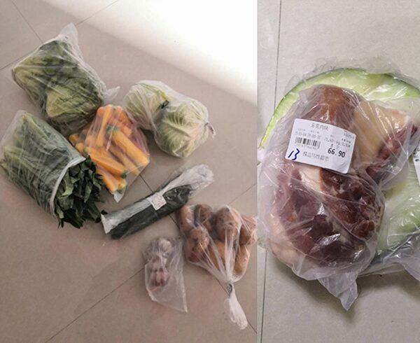 海山小區居民購買的高價菜。(業主提供)