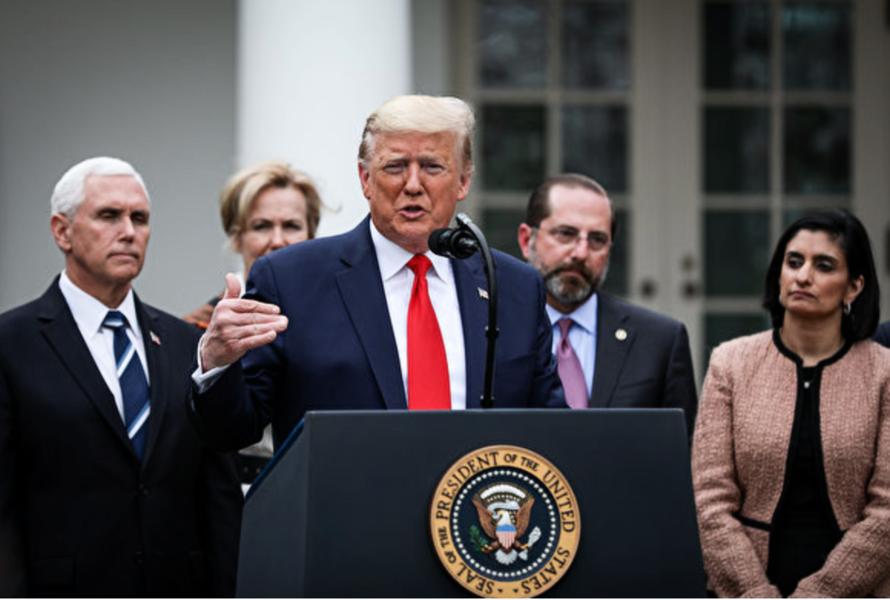美國進入國家緊急狀態  特朗普籲舉國祈禱戰勝病毒