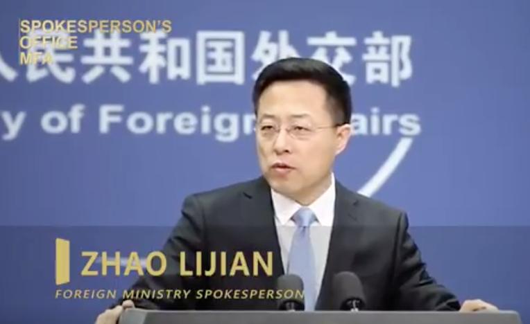 中共外交部新上任發言人趙立堅。(Tweeter)