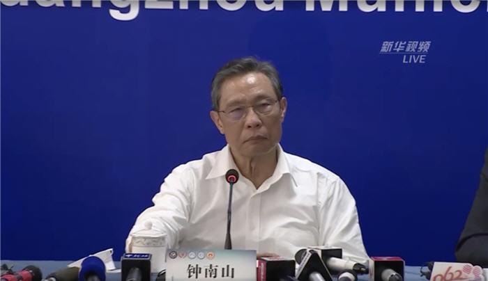 大陸傳染病專家鍾南山,已經成為中共的代言人,不但火速入黨,而且公開號召媒體報道中共的正面形象。(影片截圖)