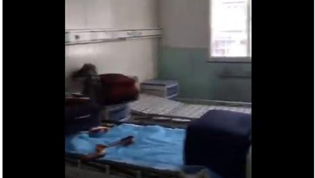從海外回國的小粉紅不堪忍受中國隔離觀察點簡陋的生活條件,拍影片曝光洩憤。(影片截圖)
