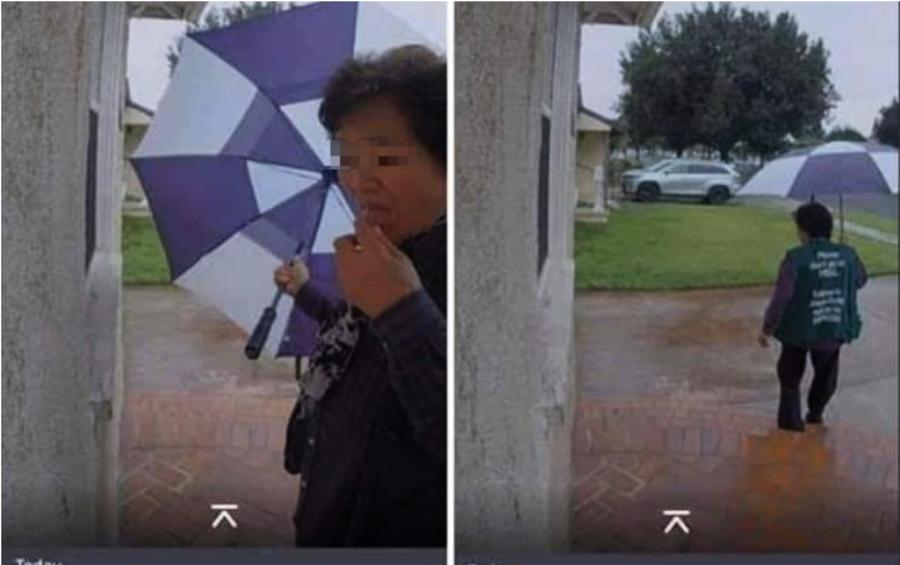 美國武漢肺炎 疑似華人大媽挨家挨戶抹口水