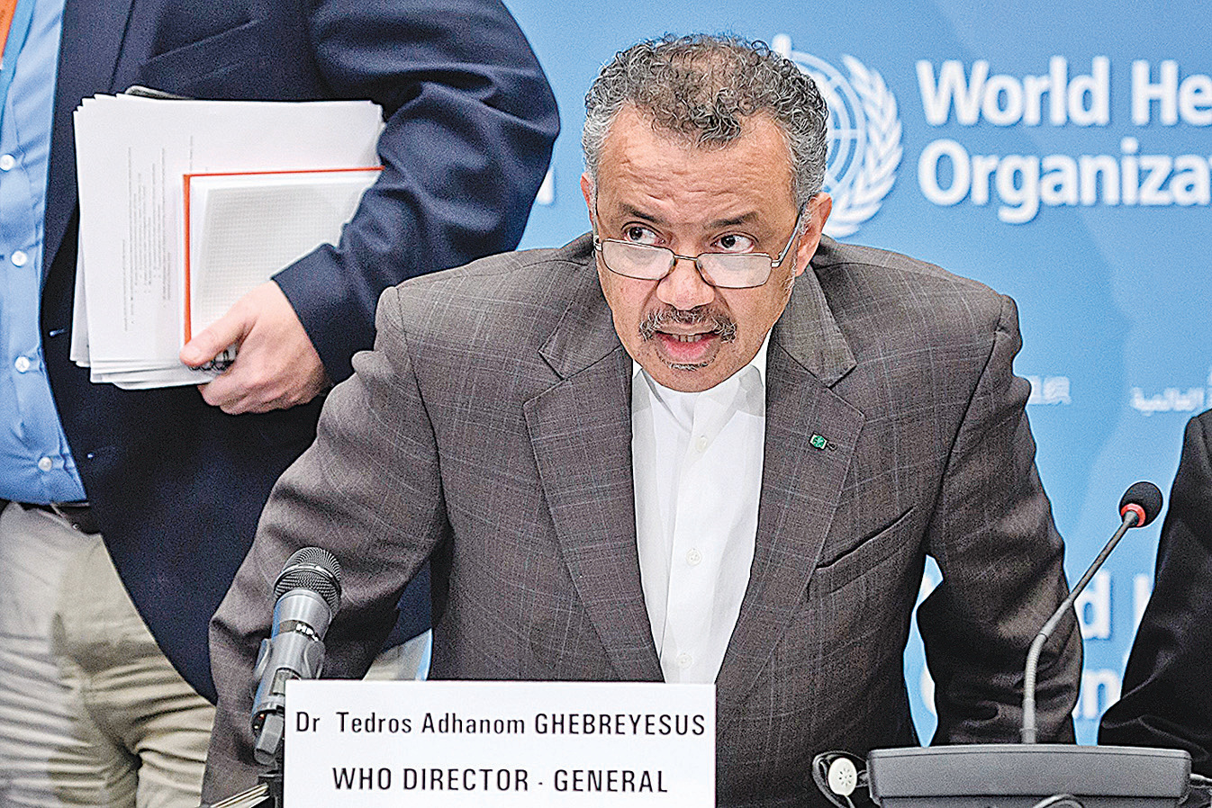 世界衛生組織(WHO)總幹事譚德塞(Tedros Adhanom Ghebreyesus)。(AFP)