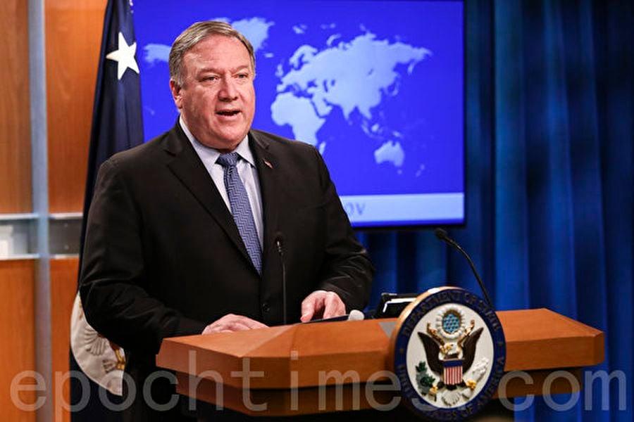 美國國務卿邁克・蓬佩奧(Mike Pompeo,圖)在與中共高級外交官楊潔篪的通話中,針對北京企圖轉移病毒傳播責任,表示「美國強烈反對」。(Samira Bouaou/大紀元)