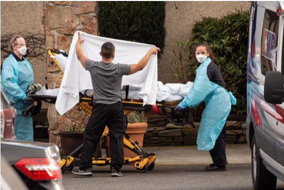 西雅圖地區是美國武漢病毒著陸地和爆發地 至今已有48人死亡(David Ryder/Getty Images)
