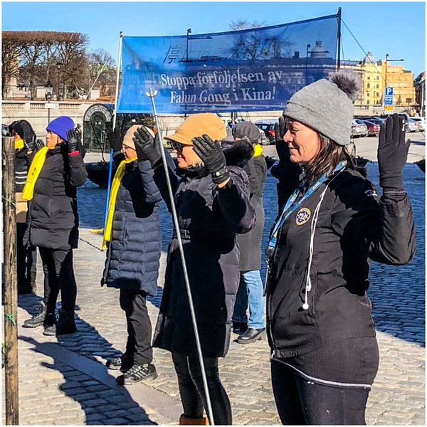 民眾支持法輪功學員反迫害  瑞典國會議員學煉法輪功