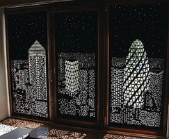 創意無限的都市夜景窗簾