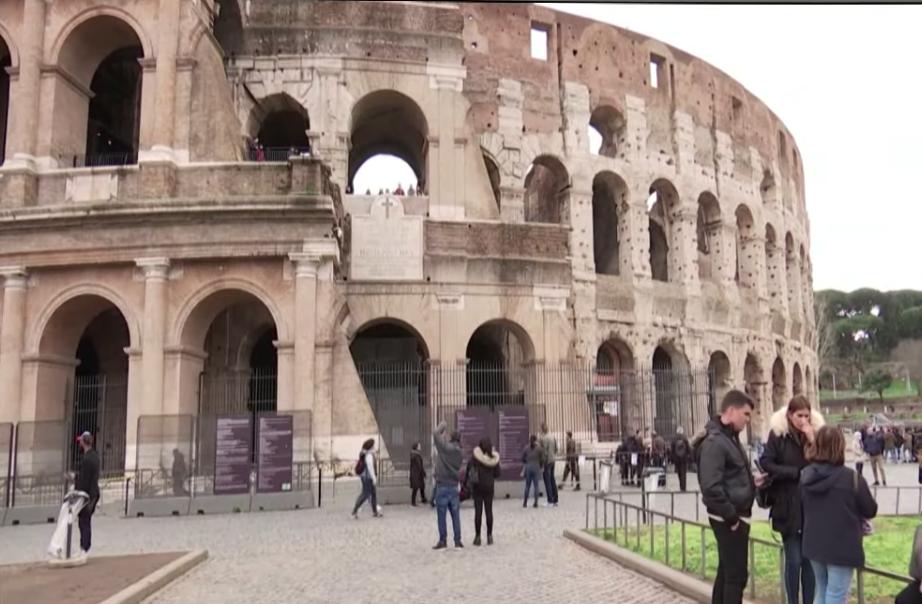 疫情嚴重的義大利。(影片截圖)