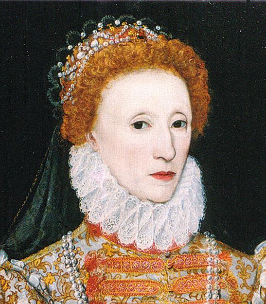 伊莉莎白女王一世畫像中的拉夫領。(公有領域)