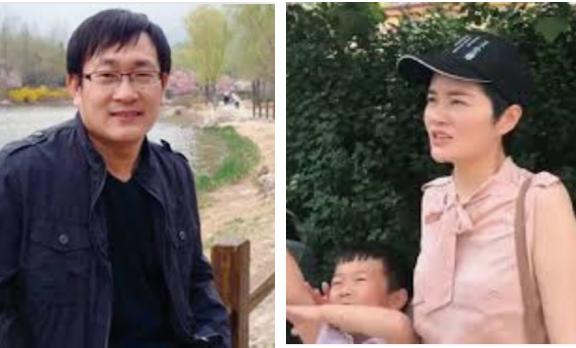 大陸709維權律師王全璋和妻子李文足。(網絡圖片)