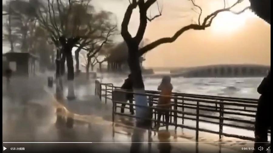 京津冀突發狂風大火 頤和園掀大浪人被吹飛