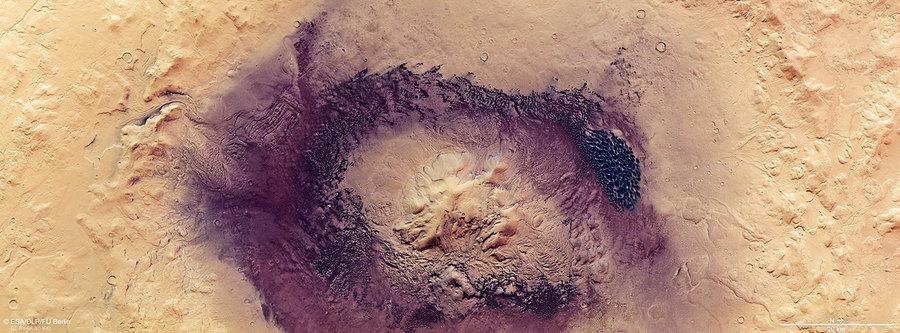 最新照片:火星瘋狂環境造就黑暗沙丘