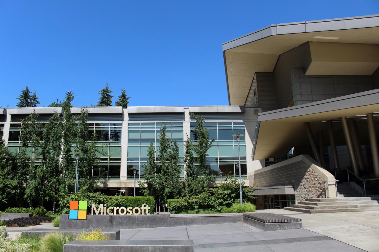 微軟位於西雅圖Redmond區總部的兩名僱員三月初被診斷感染武漢肺炎。(By Coolcaesar - Own work, CC BY-SA 4.0, Link)