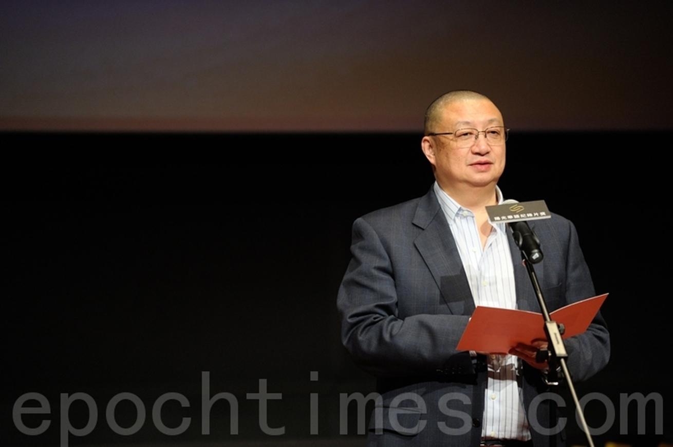 圖為陽光國際傳媒集團董事長陳平。(宋祥龍/大紀元)