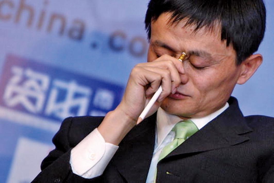 中共病毒肆虐致股市大跌,馬雲財富蒸發69億美元。資料圖(Getty Image )