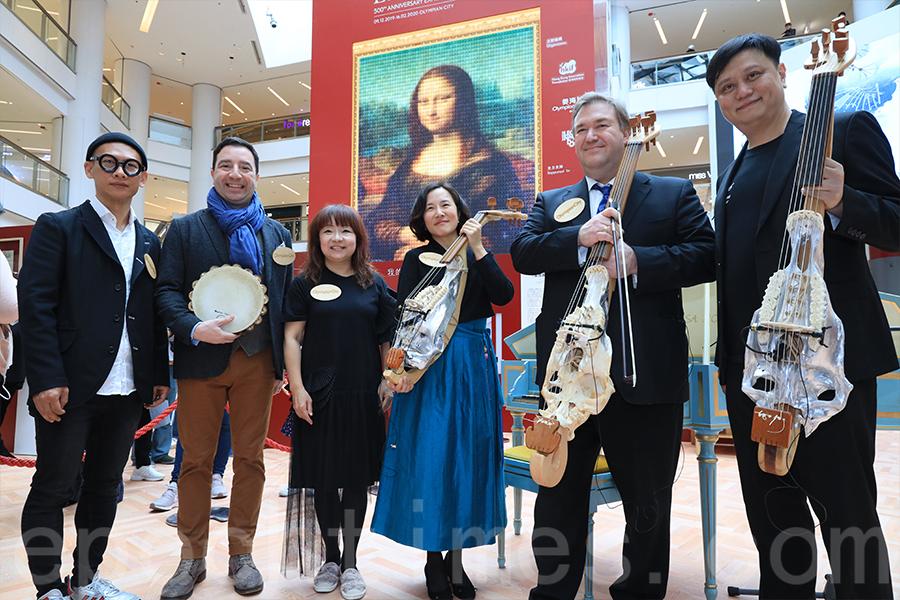 用銀色里拉琴、羽管鍵琴表演文藝復興時期樂曲,並加入意大利語的詩朗誦,彷彿令人走入了文藝復興時代。(陳仲明/大紀元)