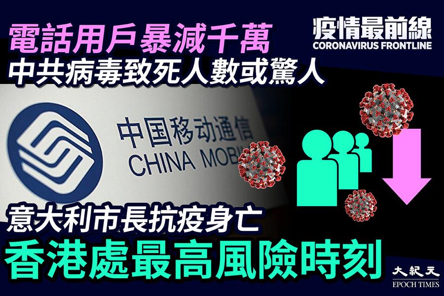【疫情最前線】意市長抗疫身亡 香港處最高風險時刻