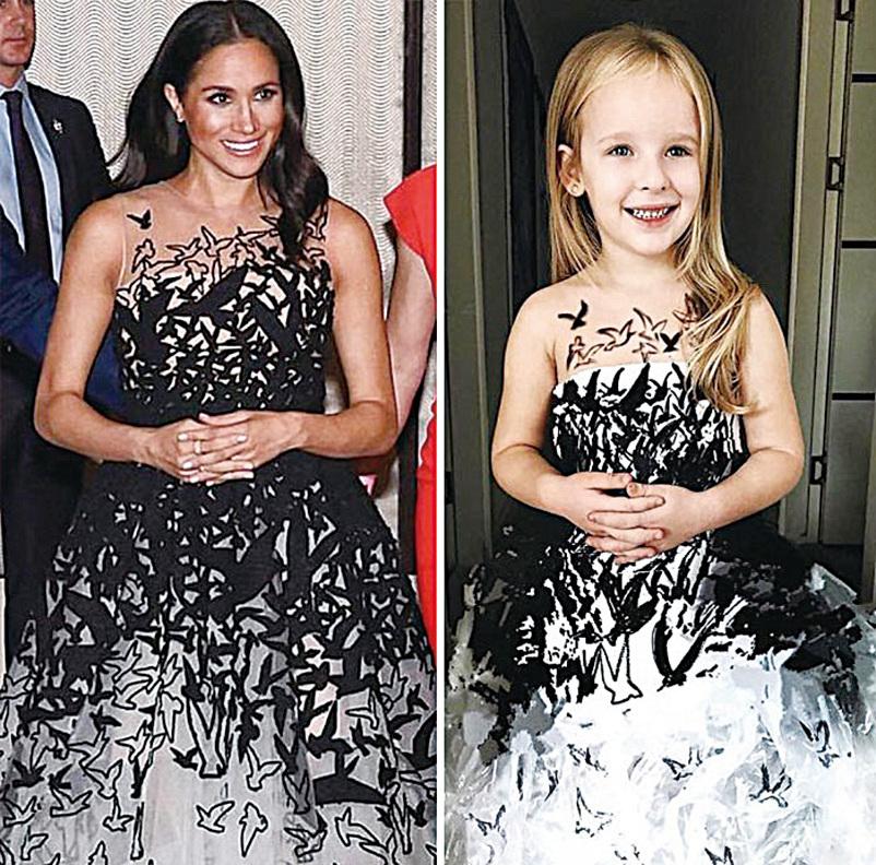 (上五圖)土耳其媽媽善用家居材料,巧手仿製明星穿著的高級晚禮服,女兒穿上後贏得大眾好評。