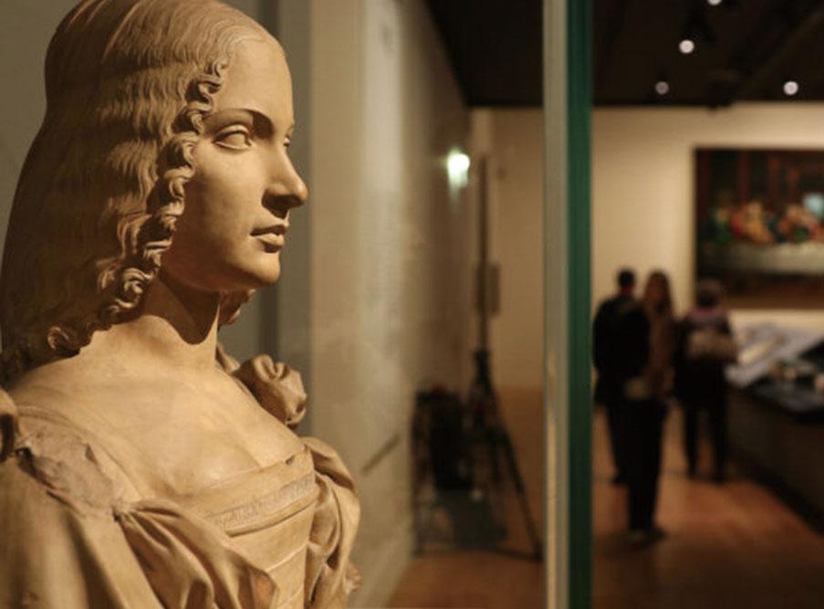 羅浮宮的達文西展,紀念這位意大利畫家逝世500周年。(David Vives/ The Epoch Times)