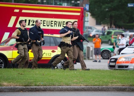 7月22日,慕尼黑購物中心傳來槍聲。(MATTHIAS BALK/AFP/Getty Images)