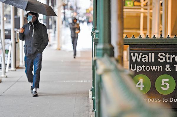 紐約華爾街地鐵站人煙稀少。(Getty Images)