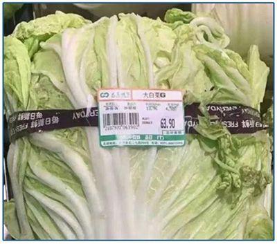 物價飆漲,一棵白菜需要好幾十人民幣。(網絡圖)