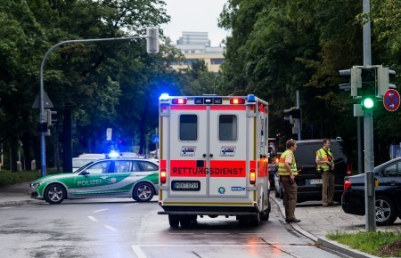 慕尼黑市中心都被封鎖。(oerg Koch/Getty Images)