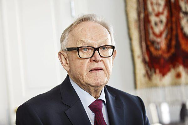 芬蘭前總統馬爾蒂阿赫蒂薩里(Martti Ahtisaari)感染中共病毒。(AFP)