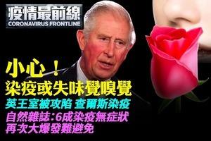 【3.26疫情最前線】小心!染疫或失味覺嗅覺 英王室被攻陷 查爾斯染疫