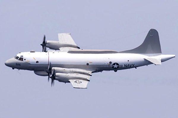 美軍EP-3E電偵機3月25日在台灣西南海域、南中國海附近飛行。(公有領域)