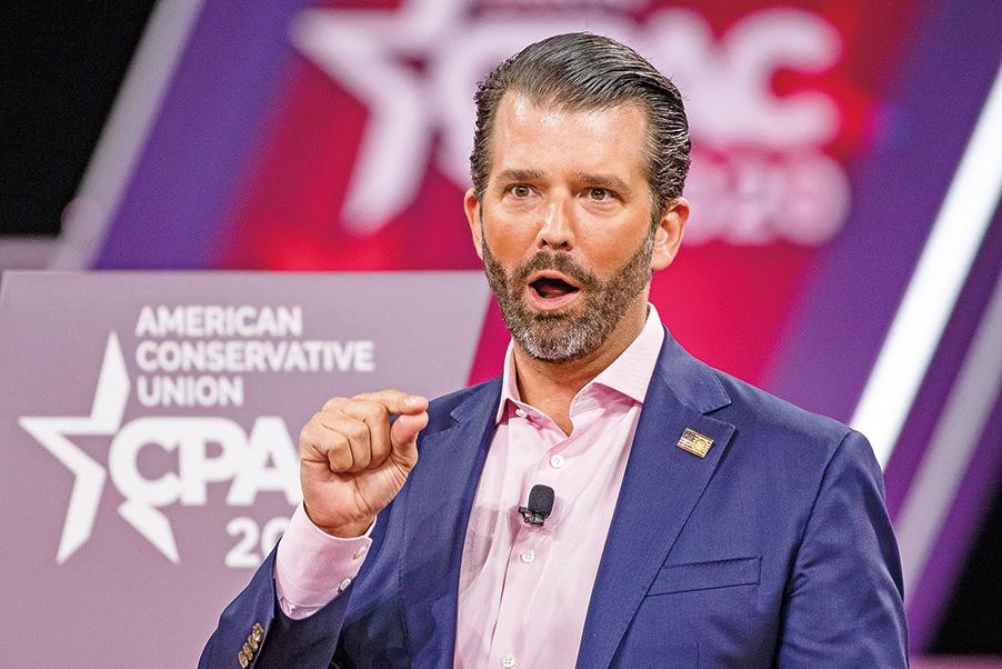 特朗普長子小唐納德發推說,「中共撒謊導致人民失去生命」。(Getty Images)