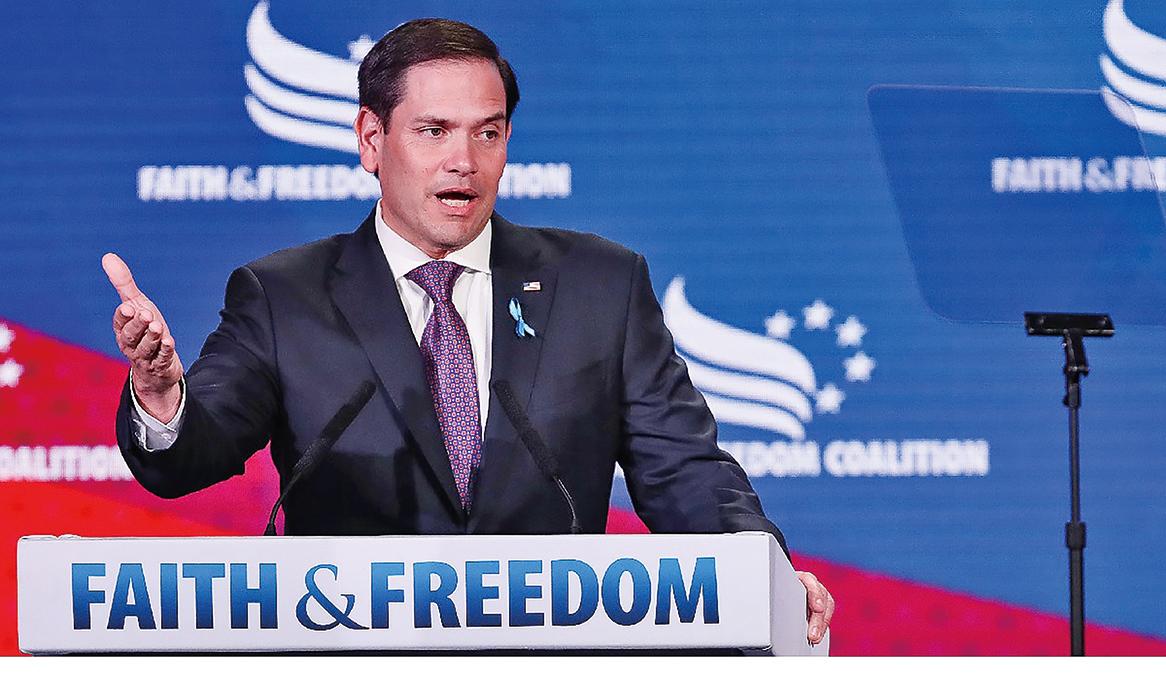 佛州共和黨參議員盧比奧批中共散佈虛假信息,「既不誠實,又危險」(Getty Images)