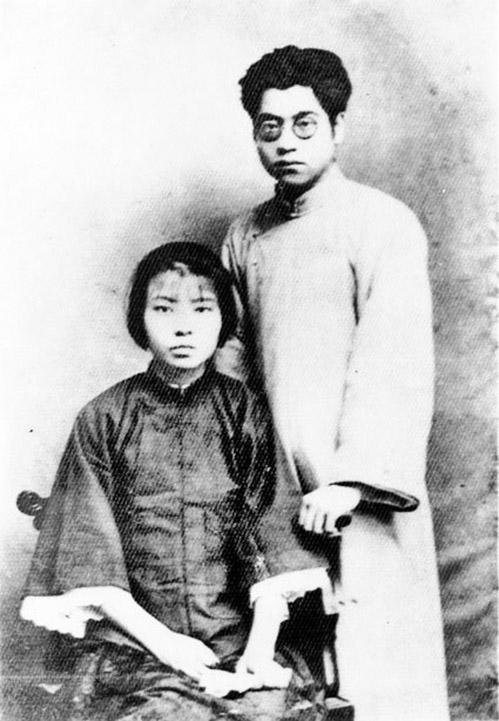 1927年,夏明翰與妻子鄭家鈞。(維基百科)