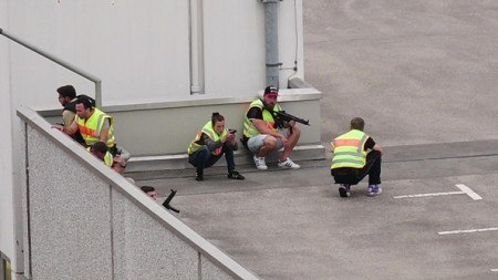 7月22日,德國慕尼黑一購物中心發生連環槍擊案。(Marc Mueller/Getty Images)