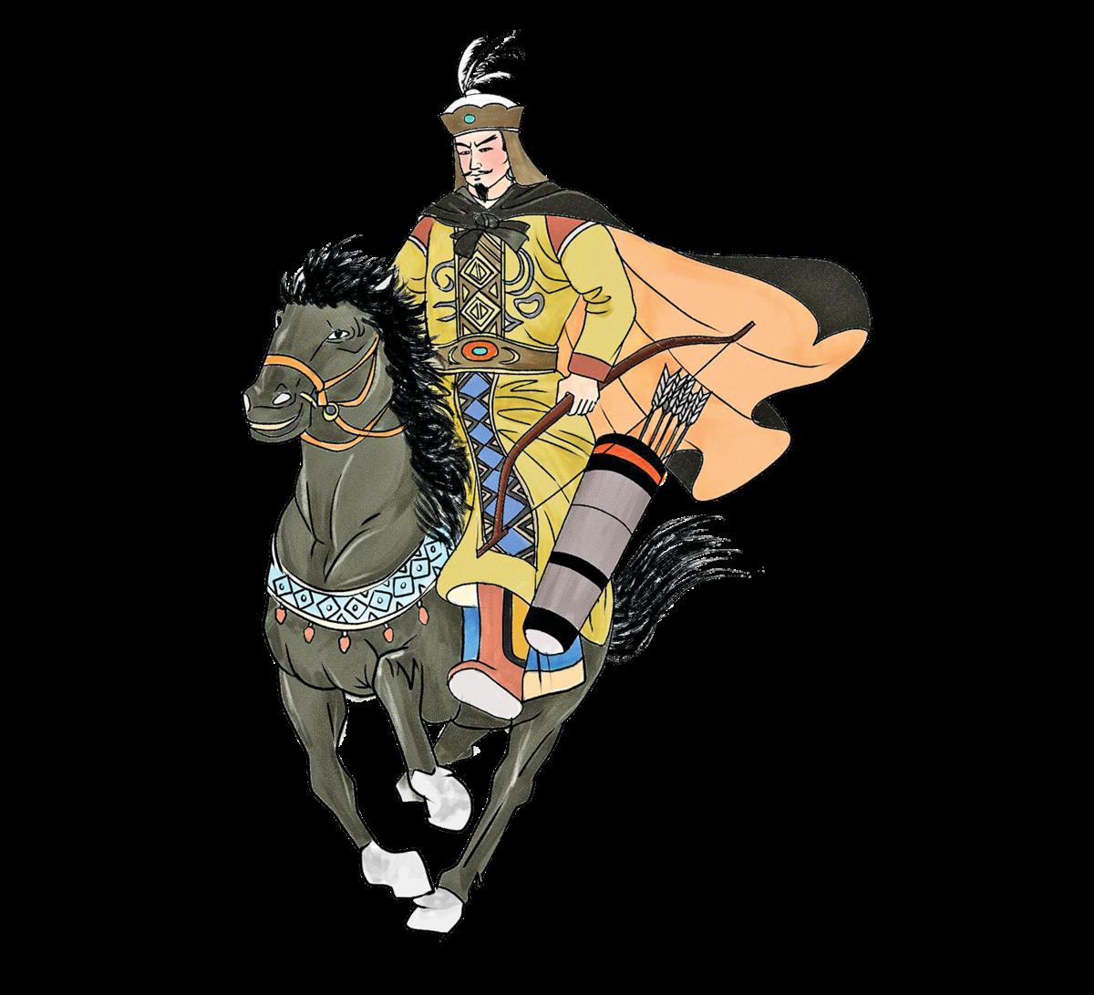 冒頓,公元前209年殺父繼位,後統一蒙古草原,建立了強大的匈奴帝國。