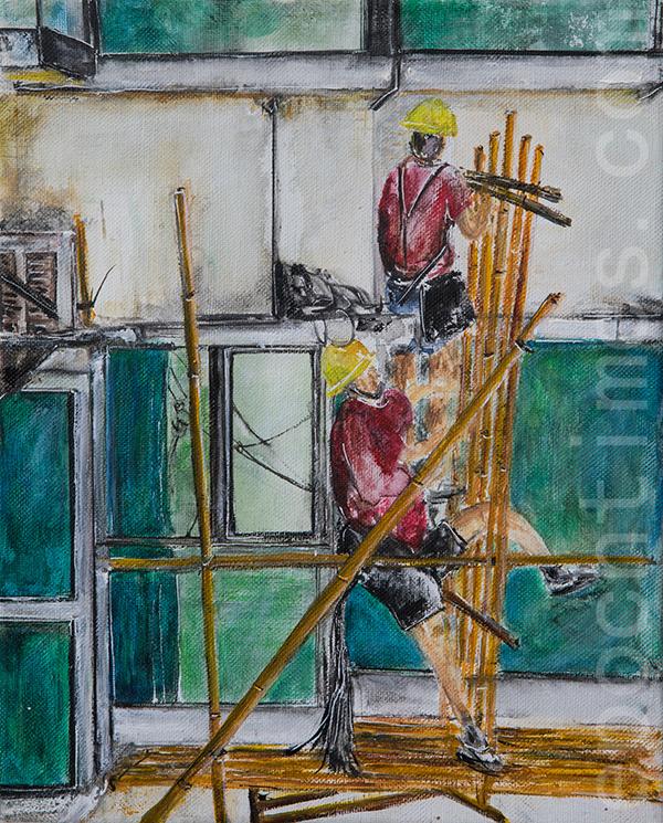 在「香港地-有您哋」展覽中,Agnes希望帶出各行各業工作者為香港付出的辛勞,讓人們留心身邊默默付出的人。(受訪者提供)