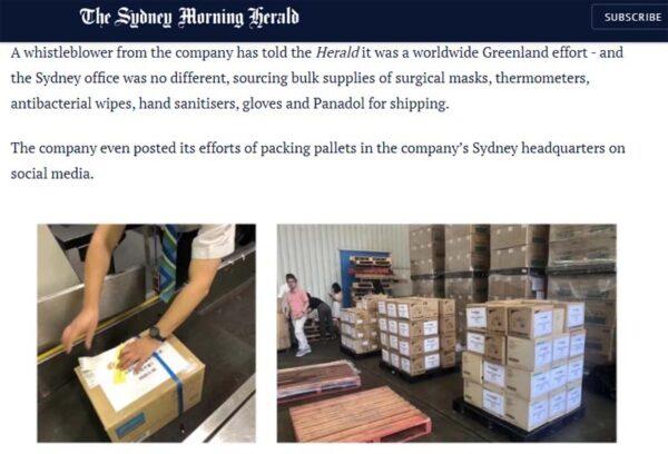 澳媒揭露中國公司瘋狂搶購的報道。(網頁截圖)