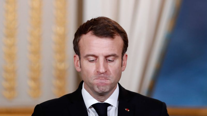 圖為法國總統馬克龍。(BENOIT TESSIER/AFP/Getty Images)