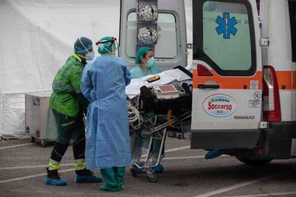 意大利死亡病例至今已超過9000人。(Emanuele Cremaschi/Getty Images)