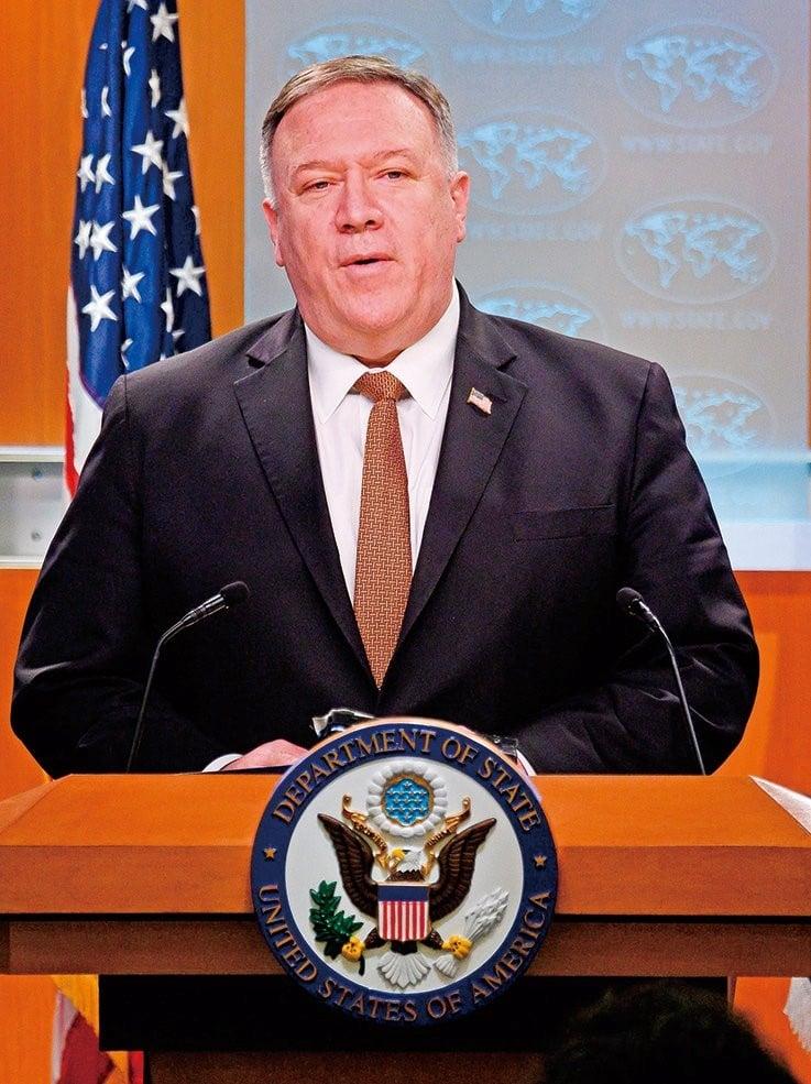 美國務卿蓬佩奧多次批評中共隱瞞疫情(Getty Images)