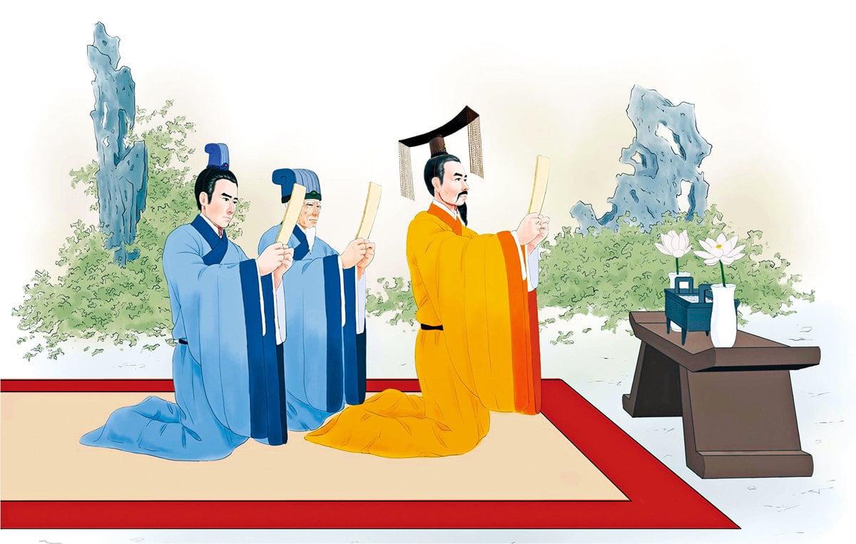 當國家發生天災人禍、政權危難之時,中國古代歷朝歷代的帝王都會沐浴齋戒,祭祀天地神靈。有時會對全天下頒布「罪己詔」。(志清/大紀元)