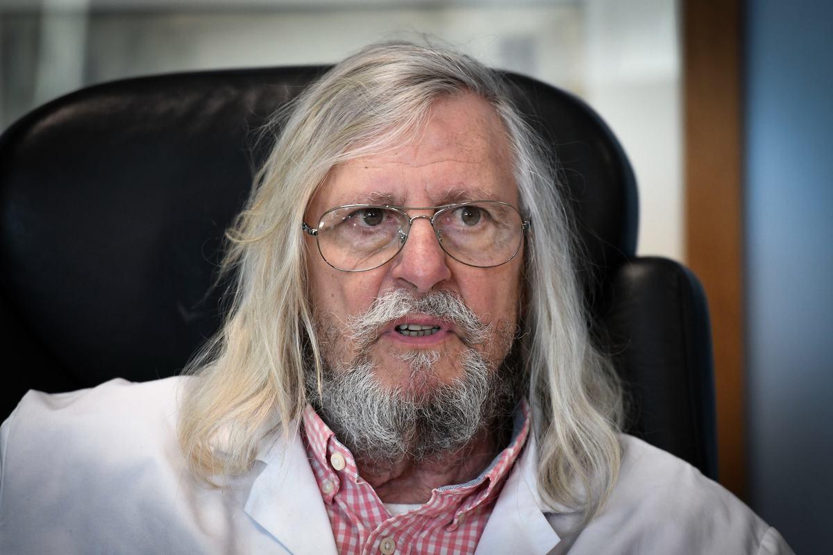 法國生物學家、馬賽大學醫院研究所教授迪迪埃•拉烏爾特(Didier Raoult)。(GERARD JULIEN/AFP via Getty Images)