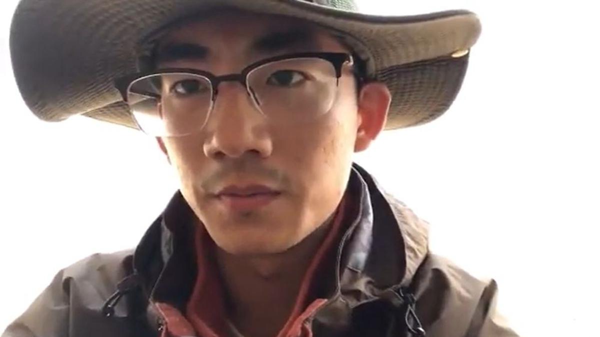 大陸青年張文彬發布視頻,實名公開要求中共下台。(視頻截圖)