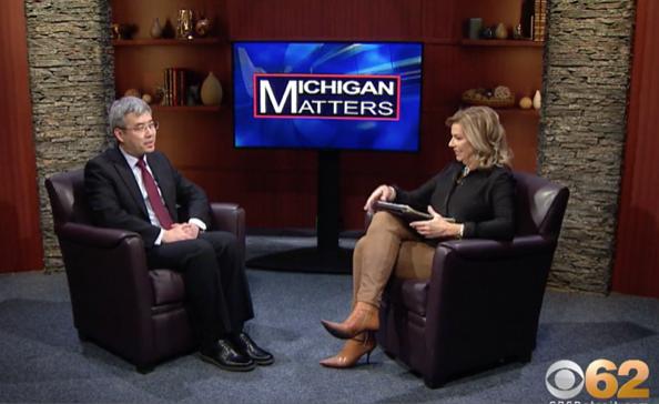 CBS底特律電視台2020年1月採訪中共芝加哥領事,為中共和密西根的貿易提供宣傳平台,密西根的首府底特律是通用汽車的總部。(影片截圖)
