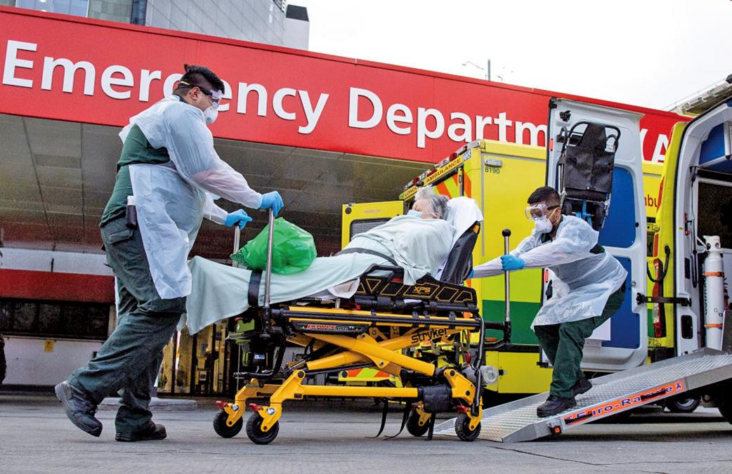 中共病毒在英國的傳播正出現放緩的早期跡象。(Getty Images)