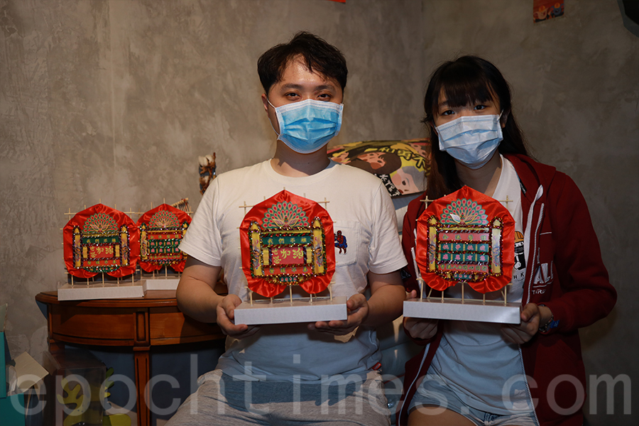 「一班乖孫」創意總監Andy(左)和項目總監Cheryl。(陳仲明/大紀元)