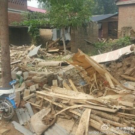 邢台村莊洪水過後的景象。(網絡圖片)