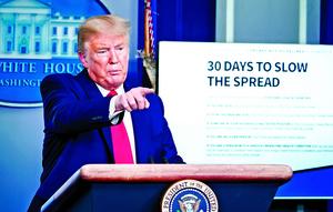特朗普:未來兩周將很艱苦