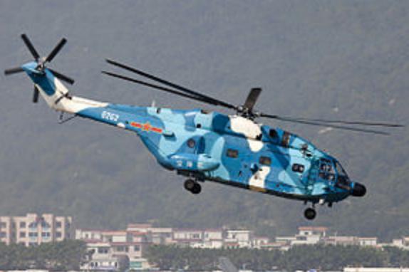 「直-8G」軍用運輸直升機。(維基百科)